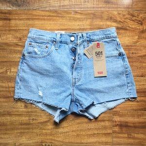 Levi's 501 high rise jean shorts